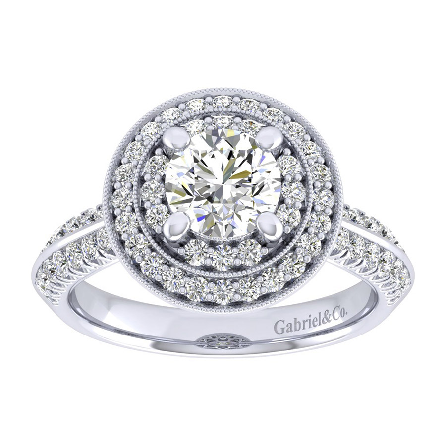 Gabriel 14 Karat Perfect Match Engagement Ring ER002B4AHW44JJ Alternative View 4