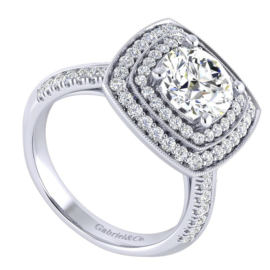 Gabriel 14 Karat Perfect Match Engagement Ring ER002C8AGW44JJ Alternative View 2