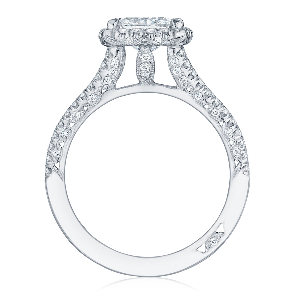 HT2548PR65 Platinum Tacori Petite Crescent Engagement Ring Alternative View 1