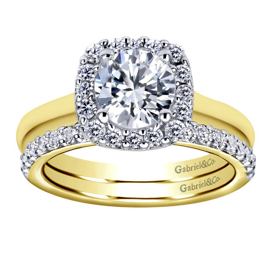Gabriel 14 Karat Contemporary Engagement Ring ER6873M44JJ Alternative View 3