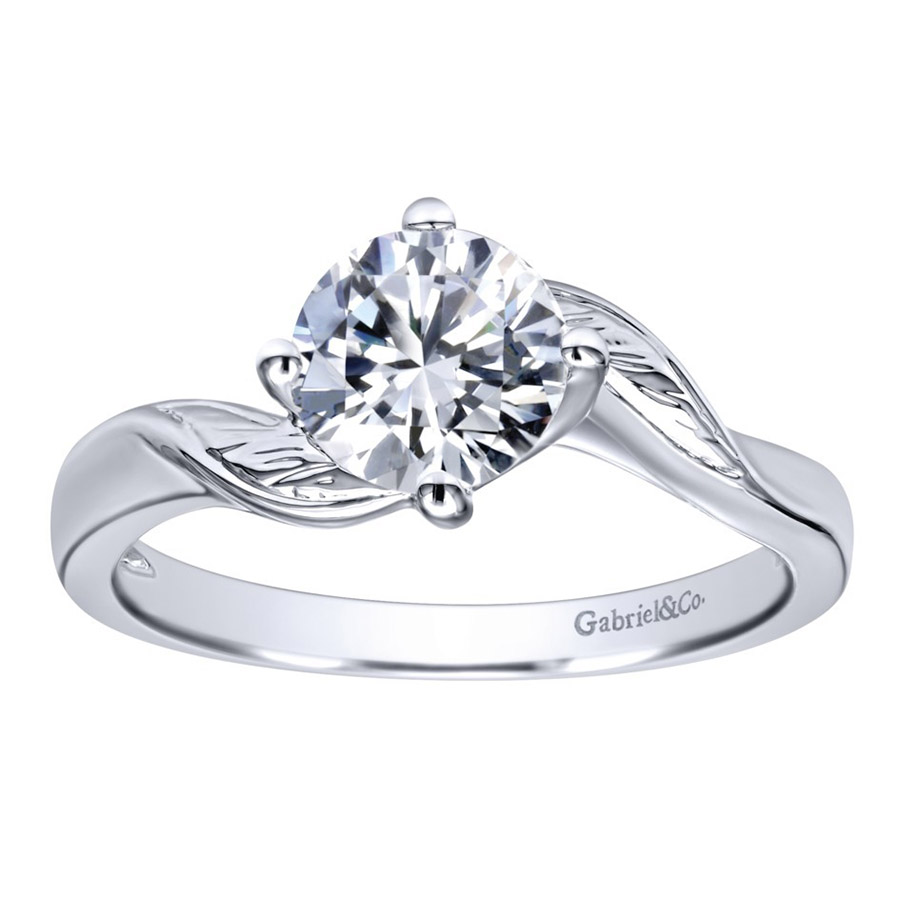 Gabriel 14 Karat Contemporary Engagement Ring ER10253W4JJJ Alternative View 4