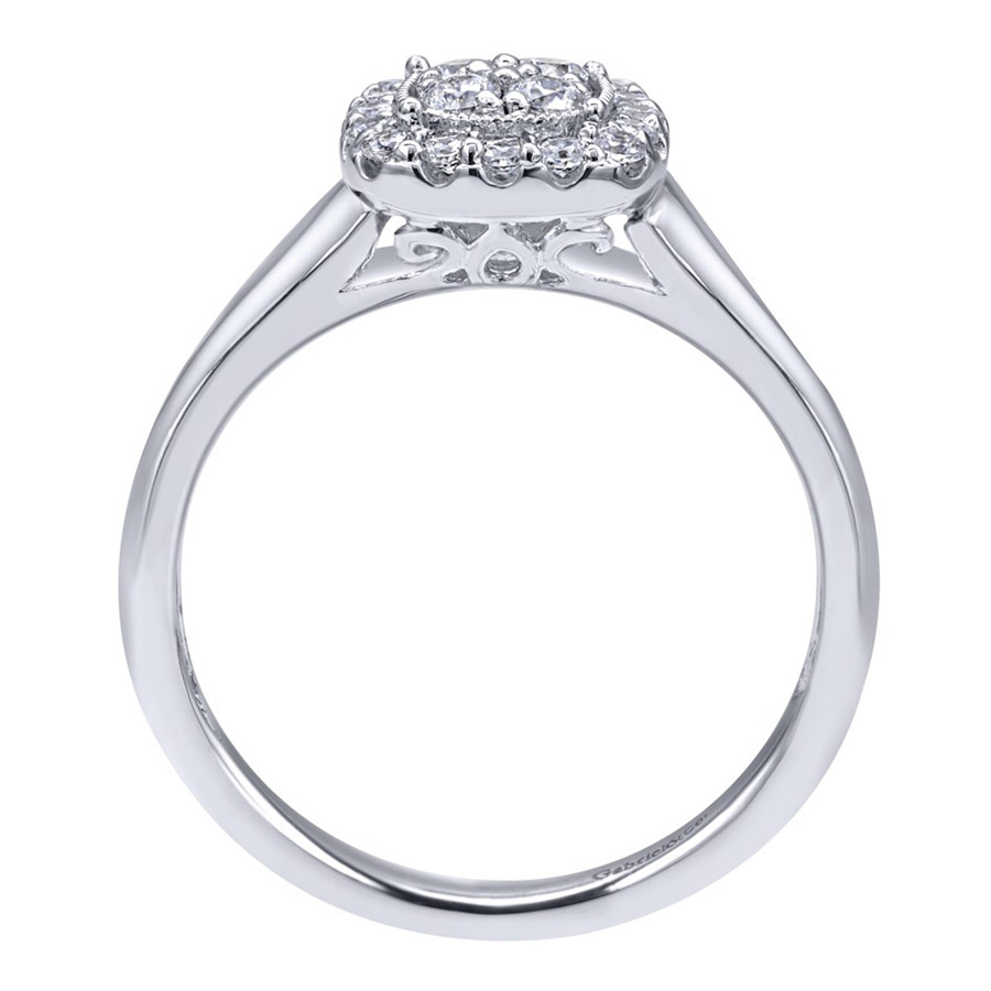 Gabriel 14 Karat Contemporary Engagement Ring ER10776W44JJ Alternative View 1