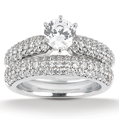 Taryn Collection Platinum Diamond Engagement Ring TQD A-1111