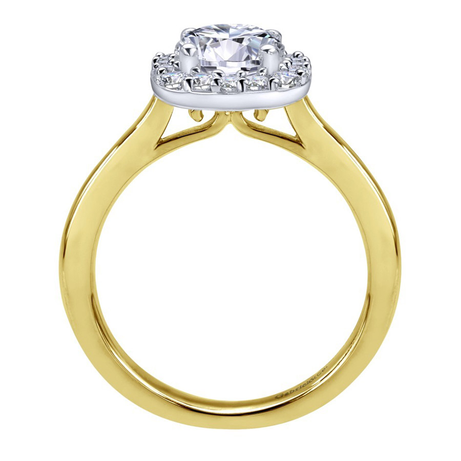 Gabriel 14 Karat Contemporary Engagement Ring ER6873M44JJ Alternative View 1