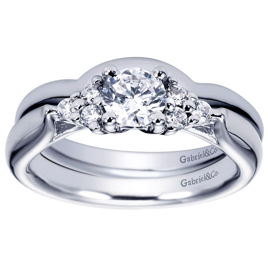 Gabriel Platinum Contemporary Wedding Band WB5993PTJJJ Alternative View 3