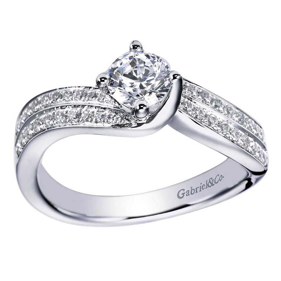 Gabriel 14 Karat Contemporary Engagement Ring ER96294W44JJ Alternative View 4