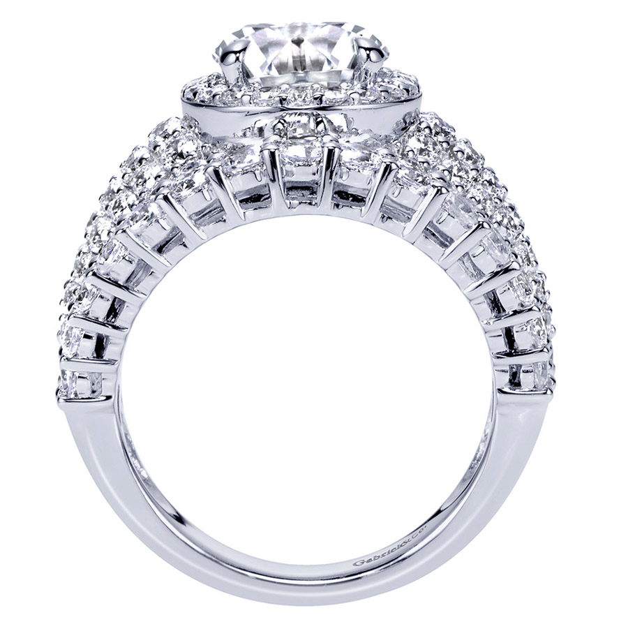 Gabriel 18 Karat Contemporary Engagement Ring ER8447W83JJ Alternative View 1
