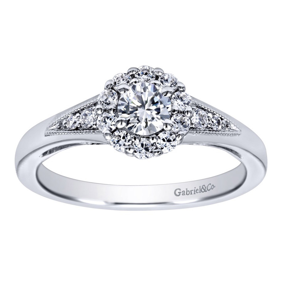Gabriel 14 Karat Contemporary Engagement Ring ER910224W44JJ Alternative View 4
