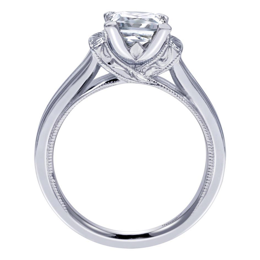 Gabriel Platinum Contemporary Engagement Ring ER9208PTJJJ Alternative View 1