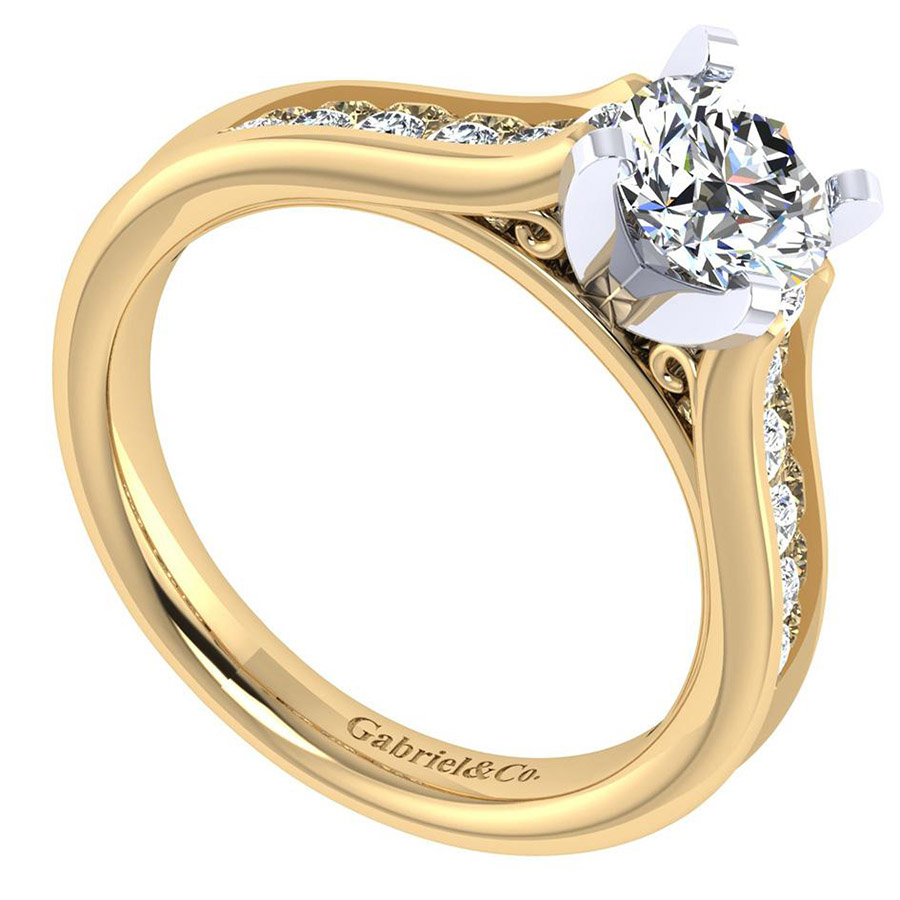 Gabriel 14 Karat Contemporary Engagement Ring ER7438M44JJ Alternative View 2