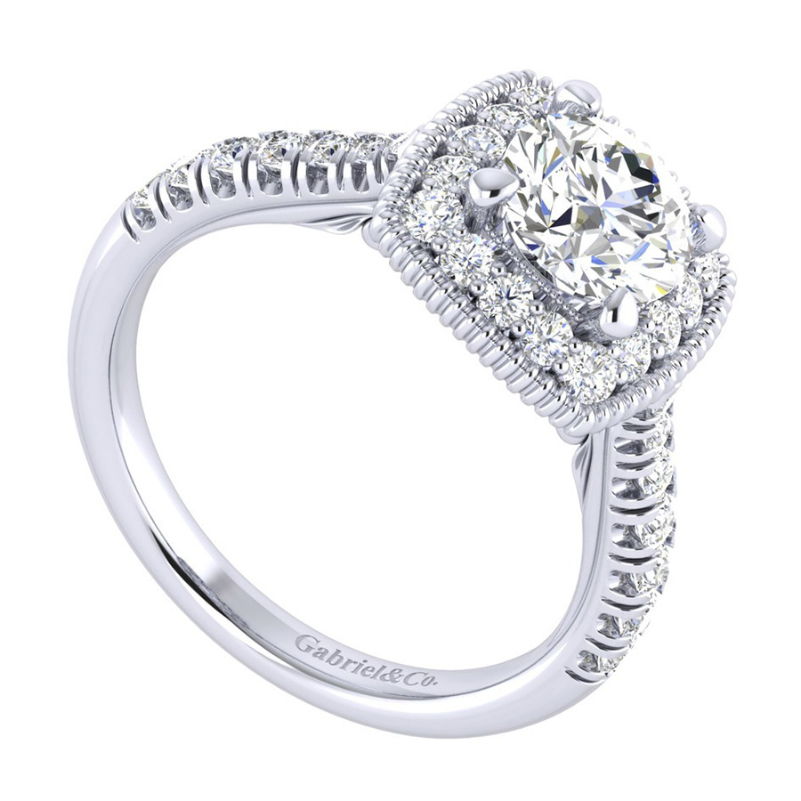 Gabriel 14 Karat Perfect Match Engagement Ring ER039B4ABW44JJ Alternative View 2