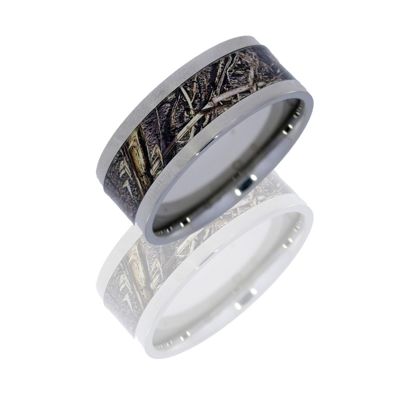 Lashbrook 10F16/MOC-DB POLISH Titanium Wedding Ring or Band