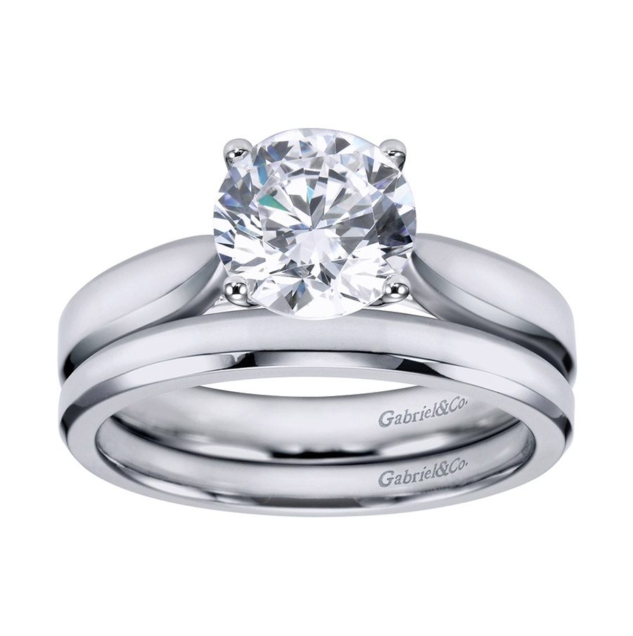 Gabriel Platinum Contemporary Engagement Ring ER6593PTJJJ Alternative View 3