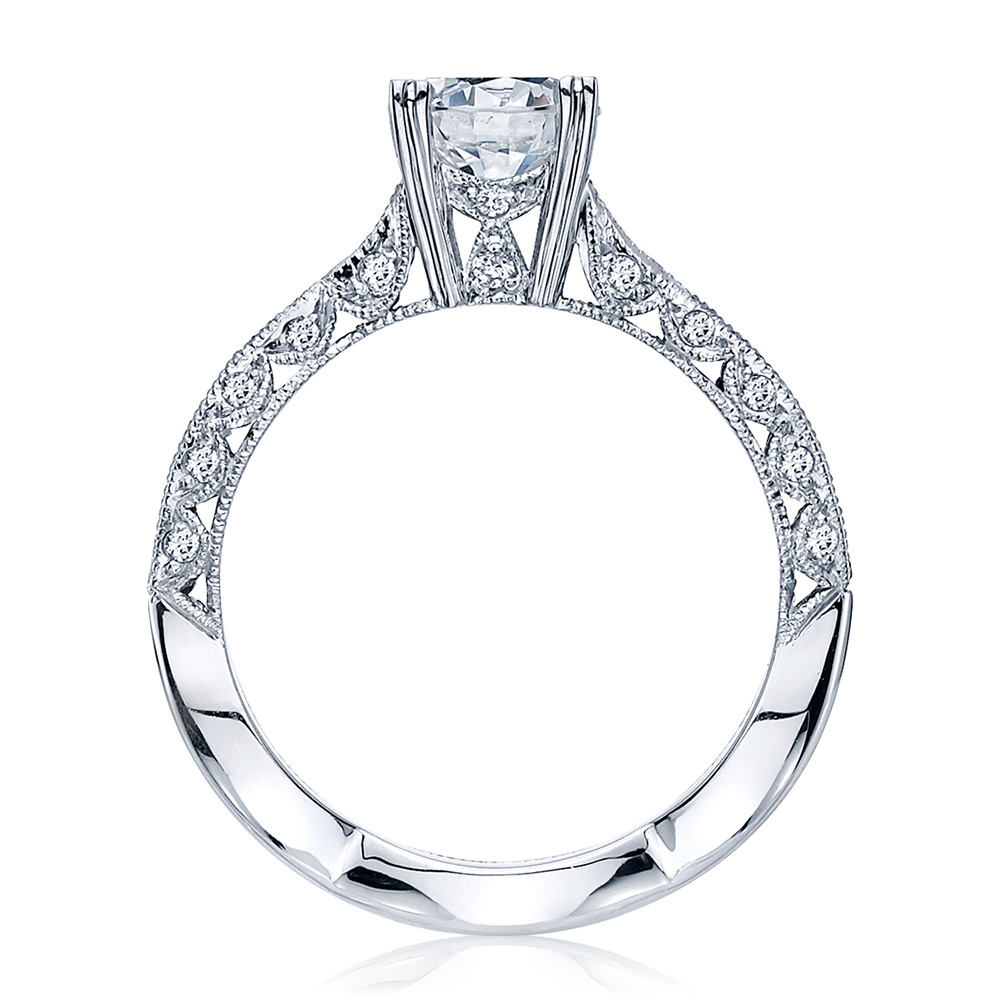 2578RD6512 Platinum Tacori Classic Crescent Engagement Ring Alternative View 1
