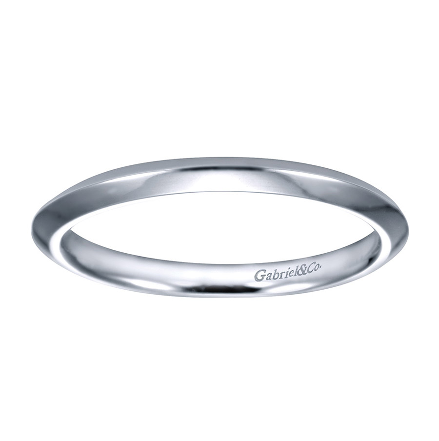 Gabriel Platinum Contemporary Wedding Band WB6686PTJJJ Alternative View 4
