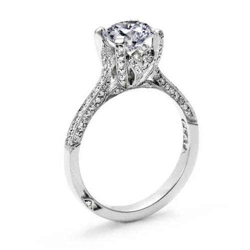 Tacori Crescent 18 Karat Engagement Ring 2561RD7 Alternative View 1