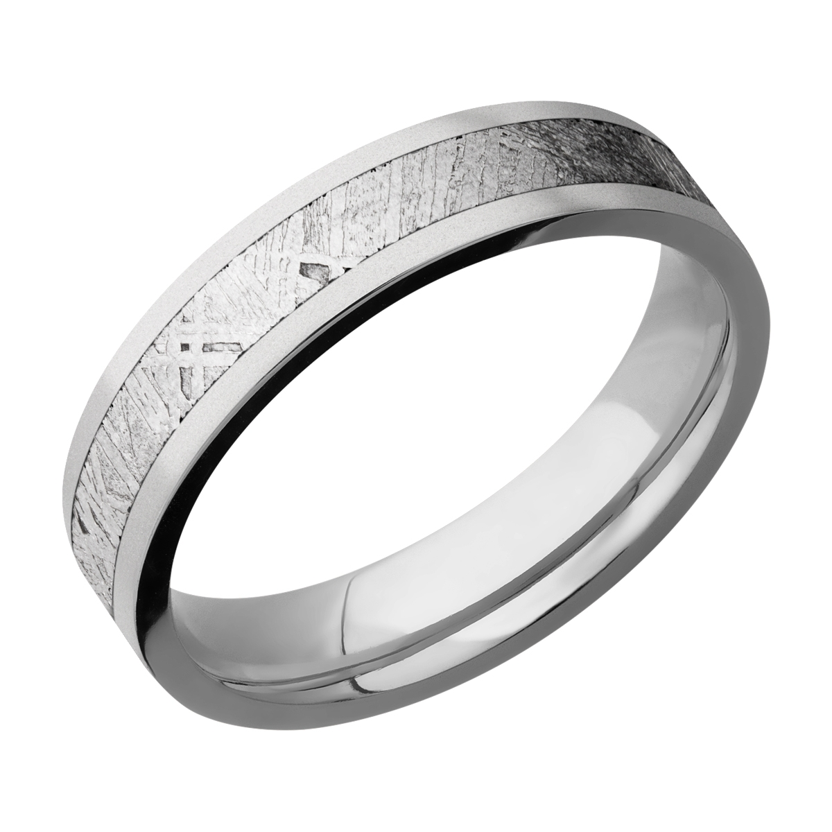 Lashbrook 5F13/METEORITE Titanium Wedding Ring or Band