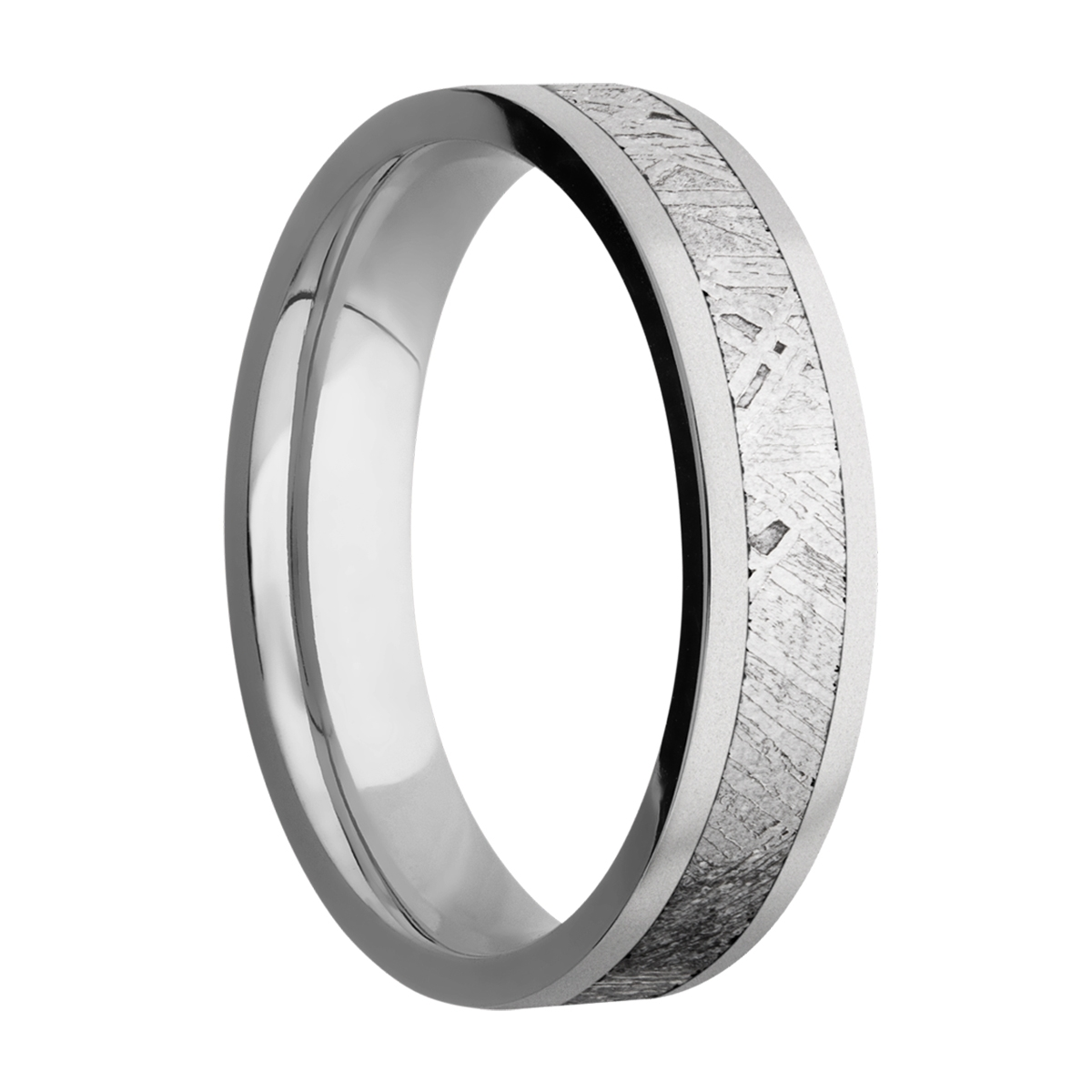 Lashbrook 5F13/METEORITE Titanium Wedding Ring or Band Alternative View 1
