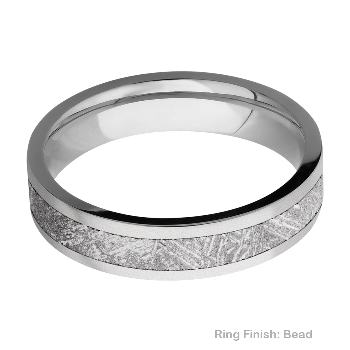 Lashbrook 5F13/METEORITE Titanium Wedding Ring or Band Alternative View 2