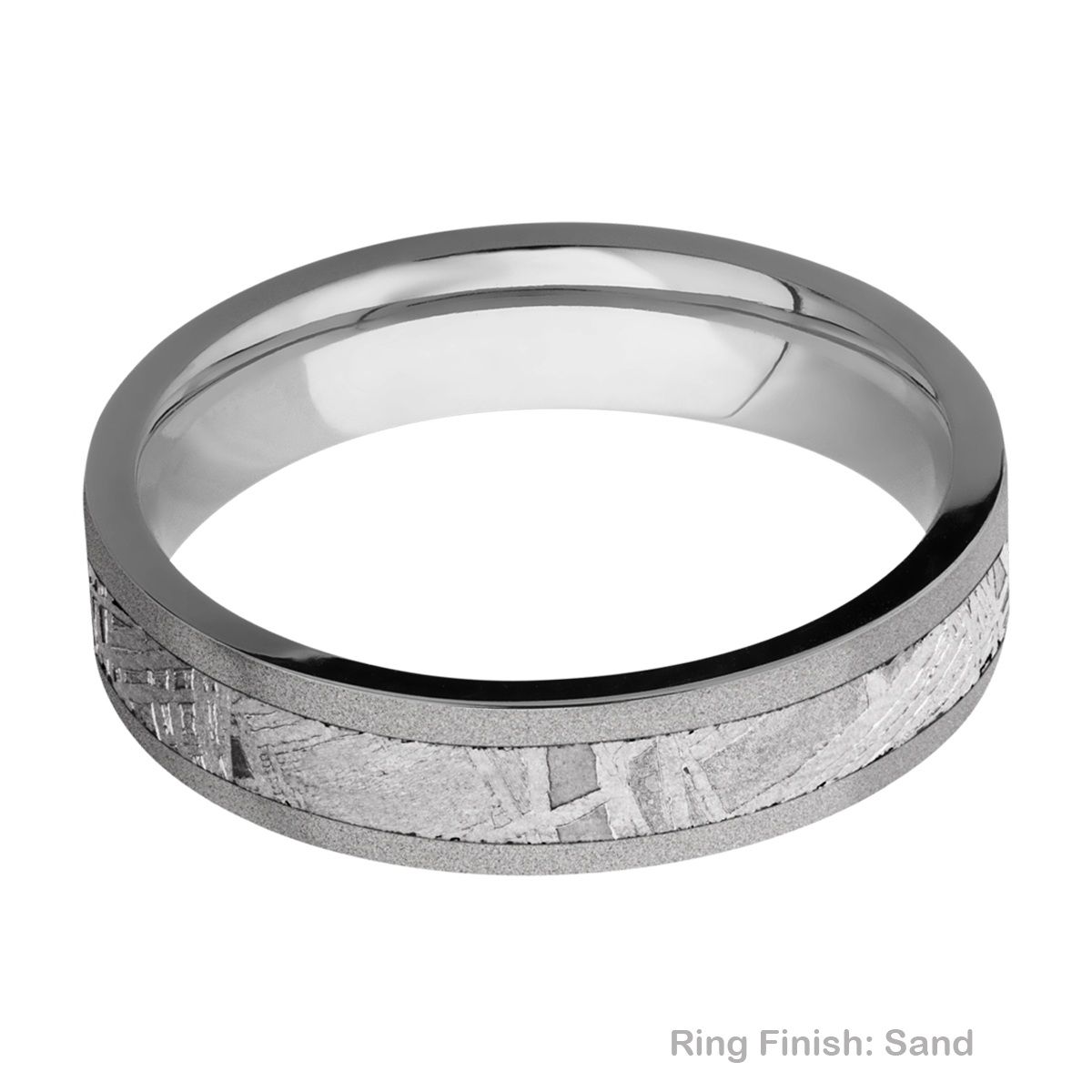 Lashbrook 5F13/METEORITE Titanium Wedding Ring or Band Alternative View 4