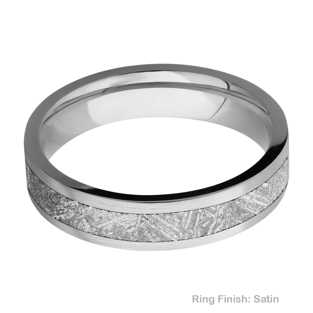 Lashbrook 5F13/METEORITE Titanium Wedding Ring or Band Alternative View 5