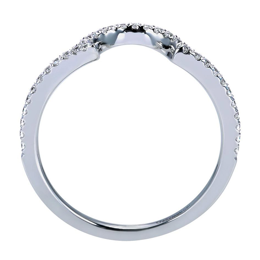 Gabriel 14 Karat Contemporary Wedding Band WB7718W44JJ Alternative View 1