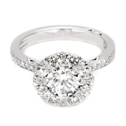 Simply Tacori 18 Karat Diamond Solitaire Engagement Ring 2642RD65 Alternative View 2