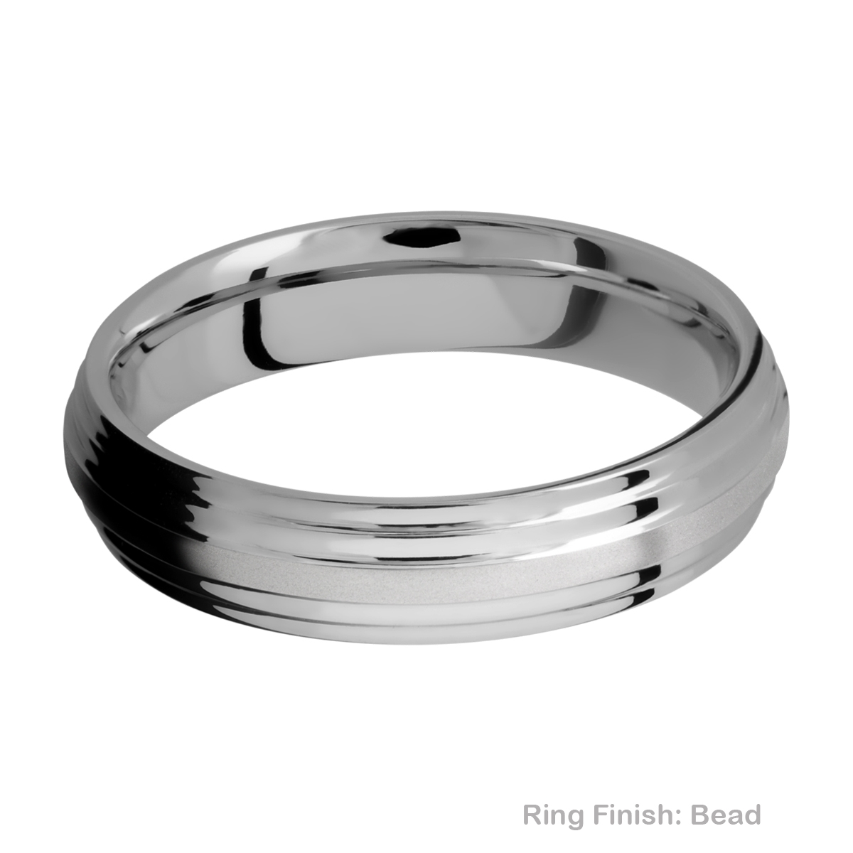 Lashbrook 5F2S Titanium Wedding Ring or Band Alternative View 3
