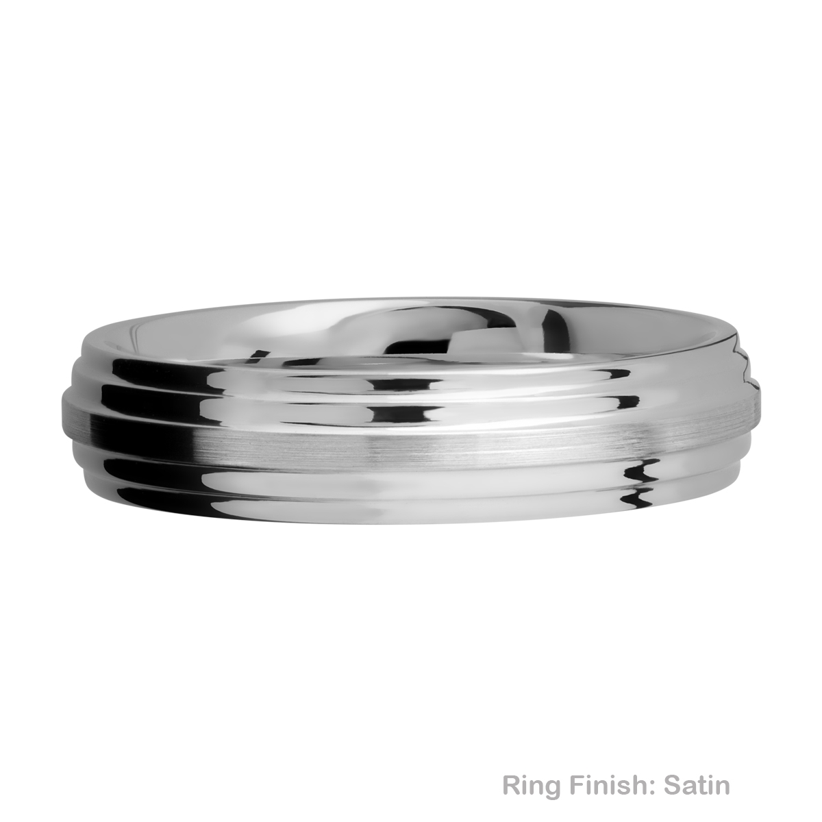 Lashbrook 5F2S Titanium Wedding Ring or Band Alternative View 6