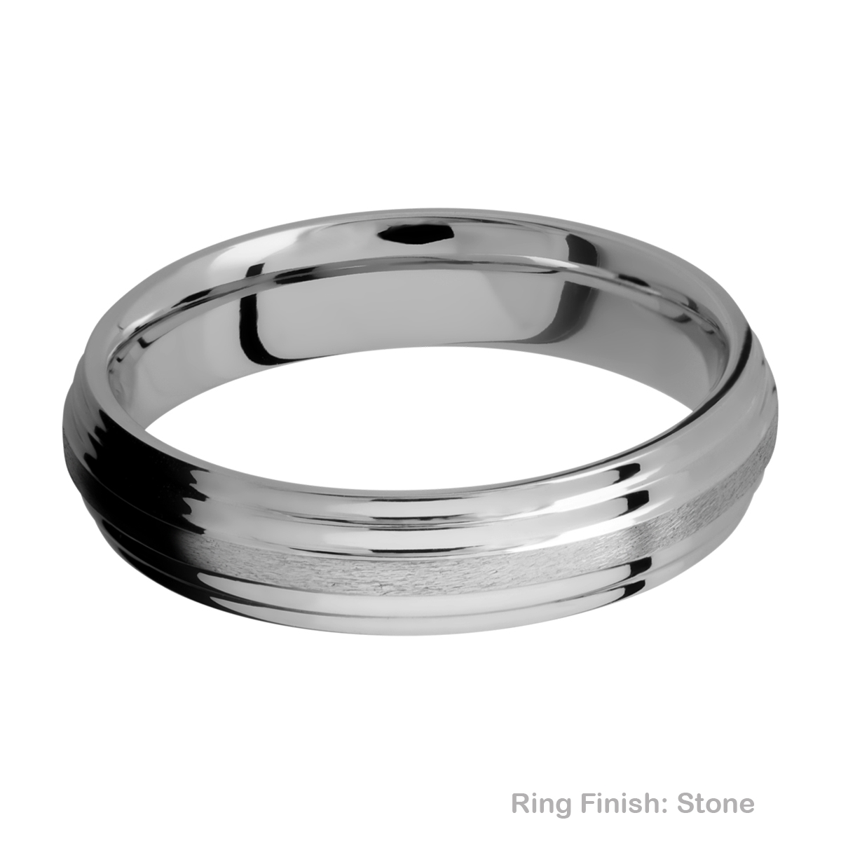 Lashbrook 5F2S Titanium Wedding Ring or Band Alternative View 7