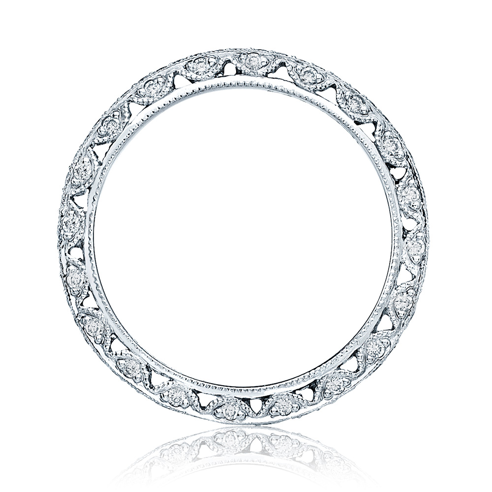 HT2257D Platinum Tacori Classic Crescent Diamond Wedding Ring Alternative View 1