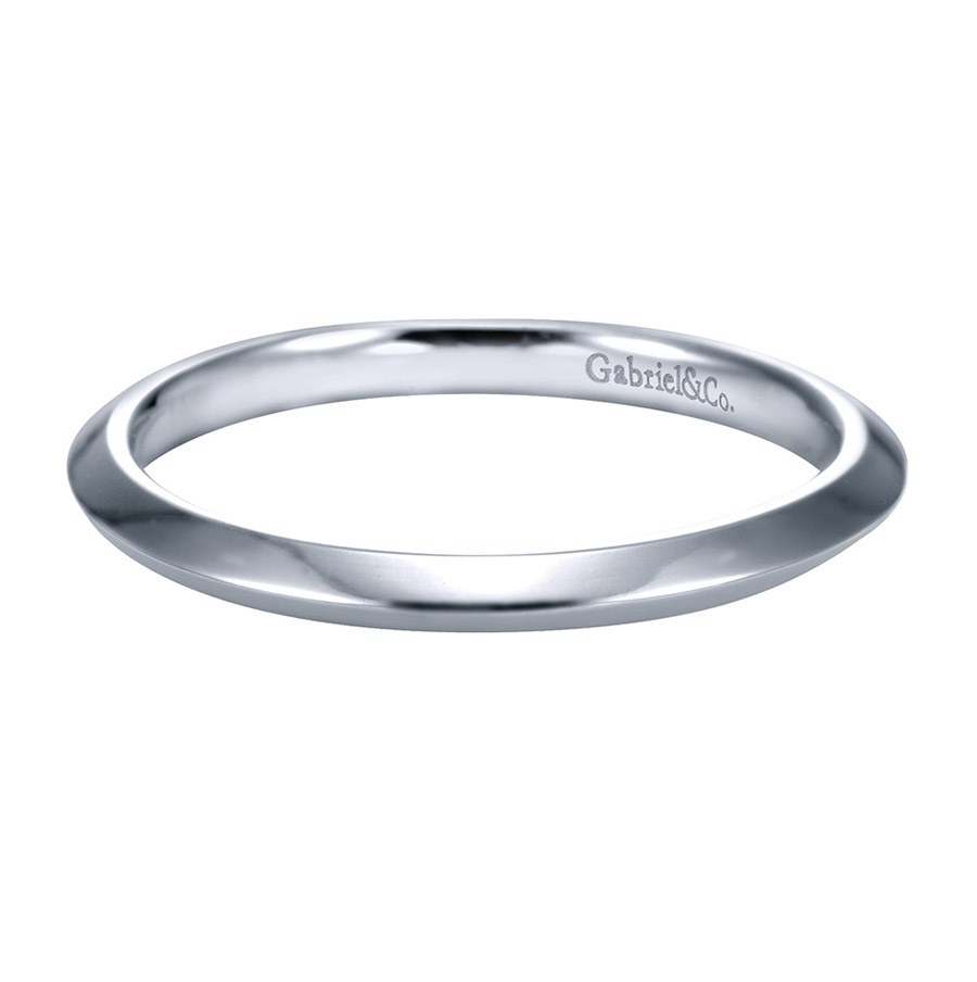 Gabriel Platinum Contemporary Wedding Band WB6686PTJJJ