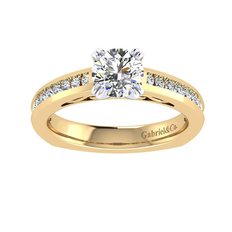 Gabriel 14 Karat Contemporary Engagement Ring ER6655M44JJ Alternative View 4