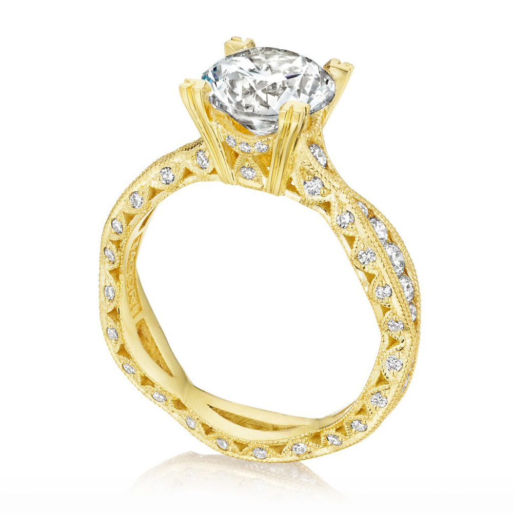 Tacori 2578RD8Y 18 Karat Tacori Gold Engagement Ring