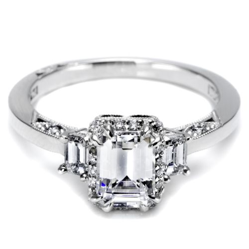 Tacori Dantela Platinum Engagement Ring 2621ECSM