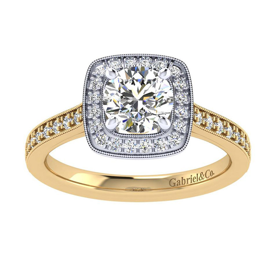 Gabriel 14 Karat Victorian Engagement Ring ER7525M44JJ Alternative View 4