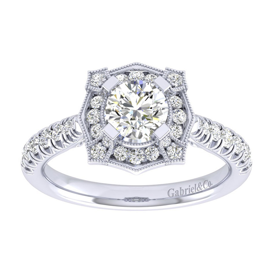 Gabriel 14 Karat Perfect Match Engagement Ring ER039B3ADW44JJ Alternative View 4