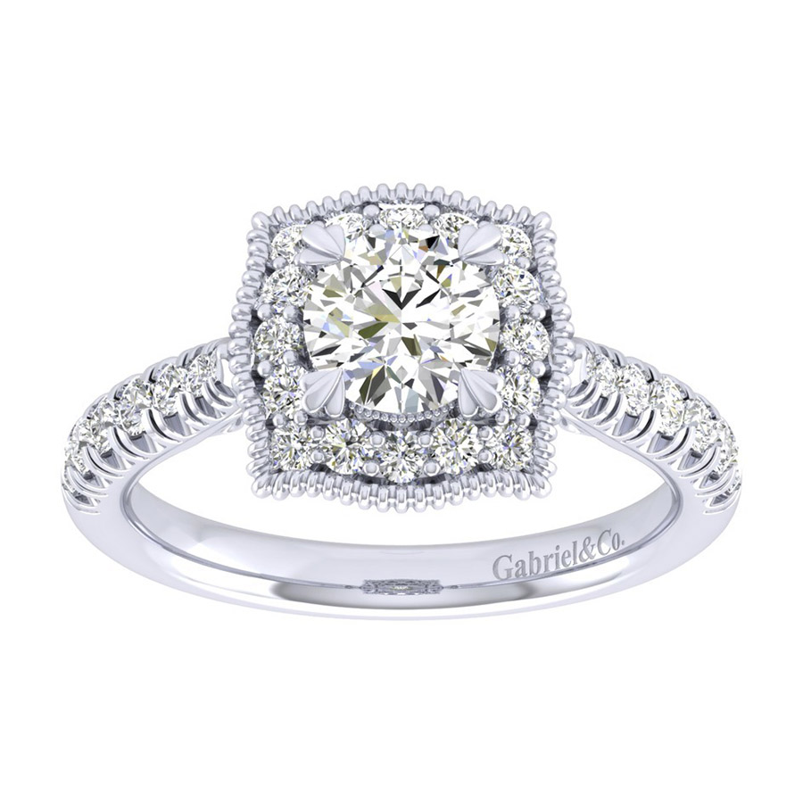 Gabriel 14 Karat Perfect Match Engagement Ring ER039B3AAW44JJ Alternative View 4