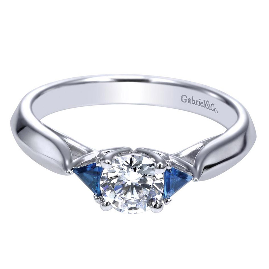 Gabriel 14 Karat Contemporary Engagement Ring ER98685W44SA