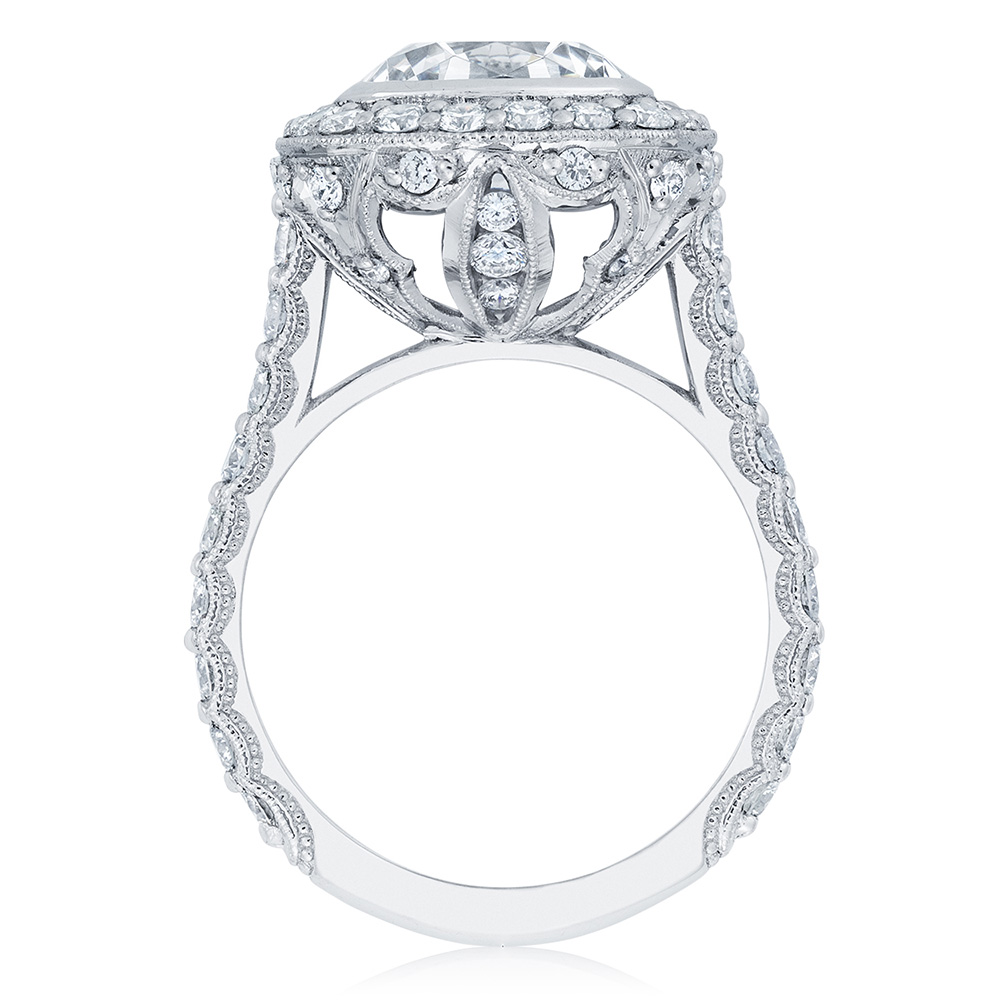 HT2614CU9 Platinum Tacori RoyalT Engagement Ring Alternative View 1