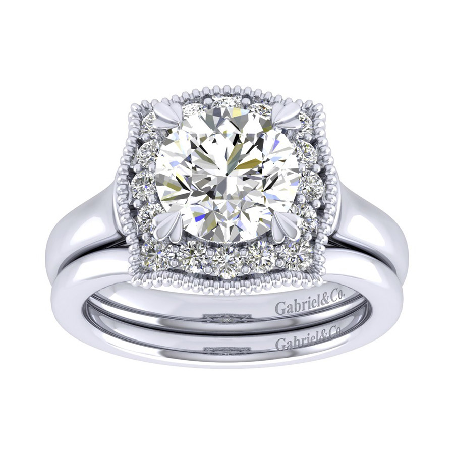 Gabriel 14 Karat Perfect Match Engagement Ring ER009C8AAW44JJ Alternative View 3