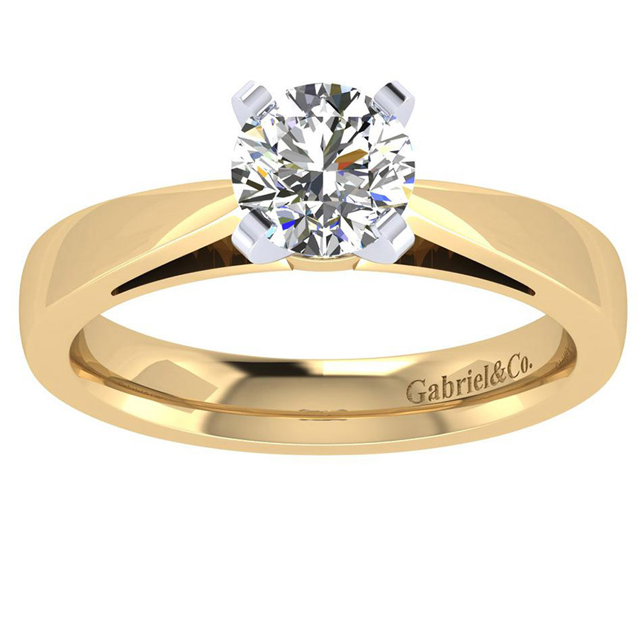 Gabriel 14 Karat Contemporary Engagement Ring ER8132M4JJJ Alternative View 4