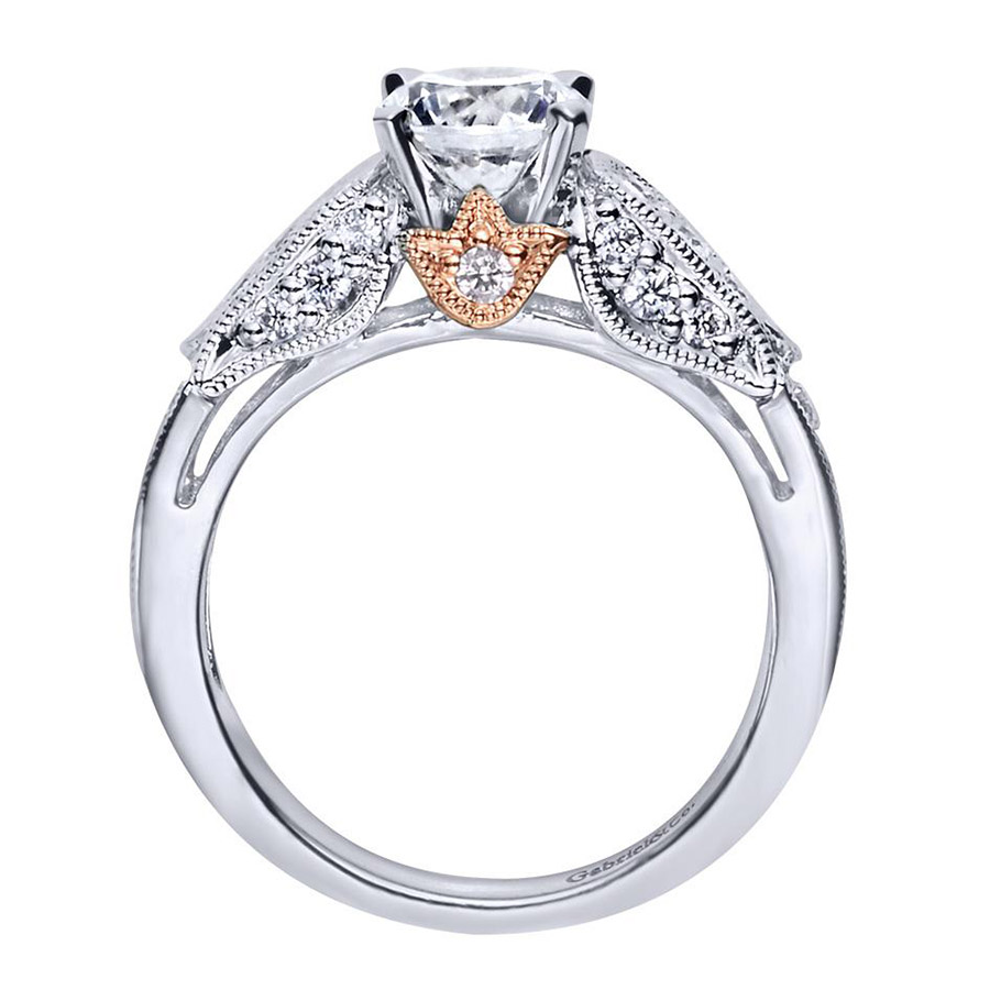 Gabriel 14 Karat Victorian Engagement Ring ER4072T44JJ Alternative View 1