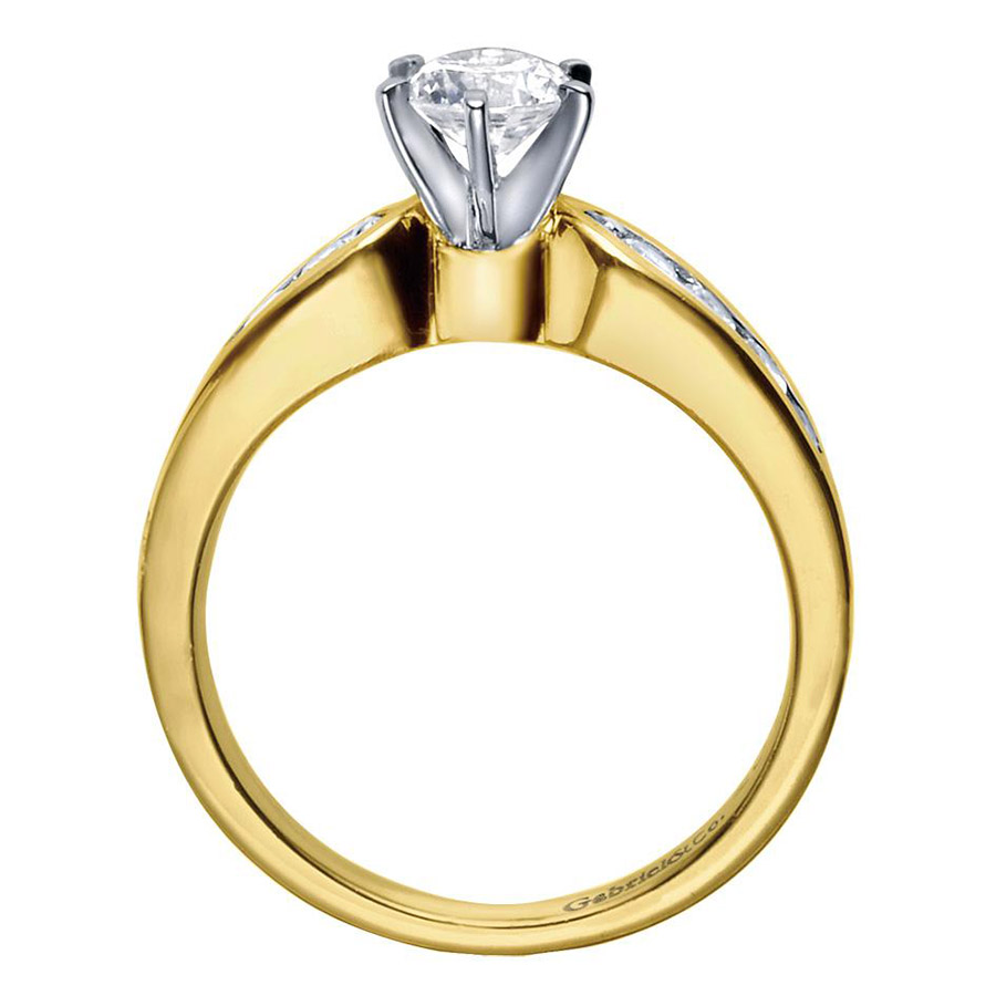 Gabriel 14 Karat Contemporary Engagement Ring ER2294M44JJ Alternative View 1