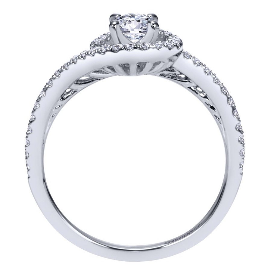 Gabriel 14 Karat Contemporary Engagement Ring ER97718W44JJ Alternative View 1
