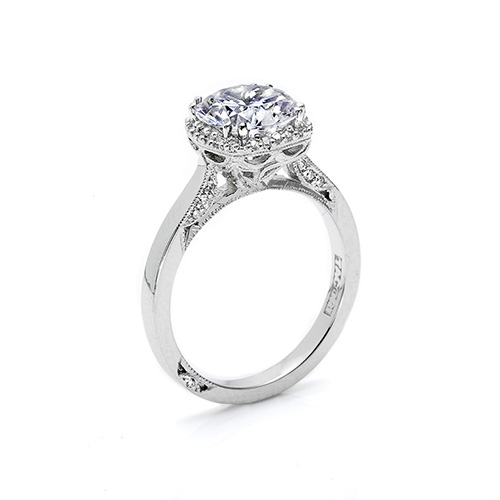 Tacori Platinum Dantela Engagement Ring 2620RDMN Alternative View 1