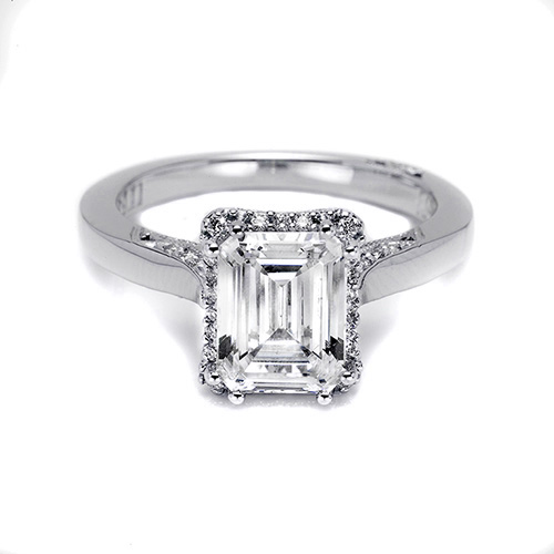 Tacori Platinum Dantela Engagement Ring 2620ECMD