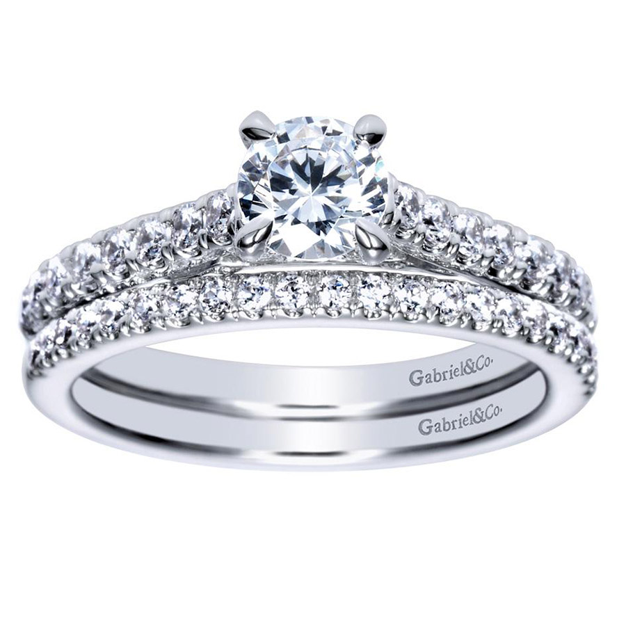 Gabriel 14 Karat Contemporary Engagement Ring ER98539W44JJ Alternative View 3