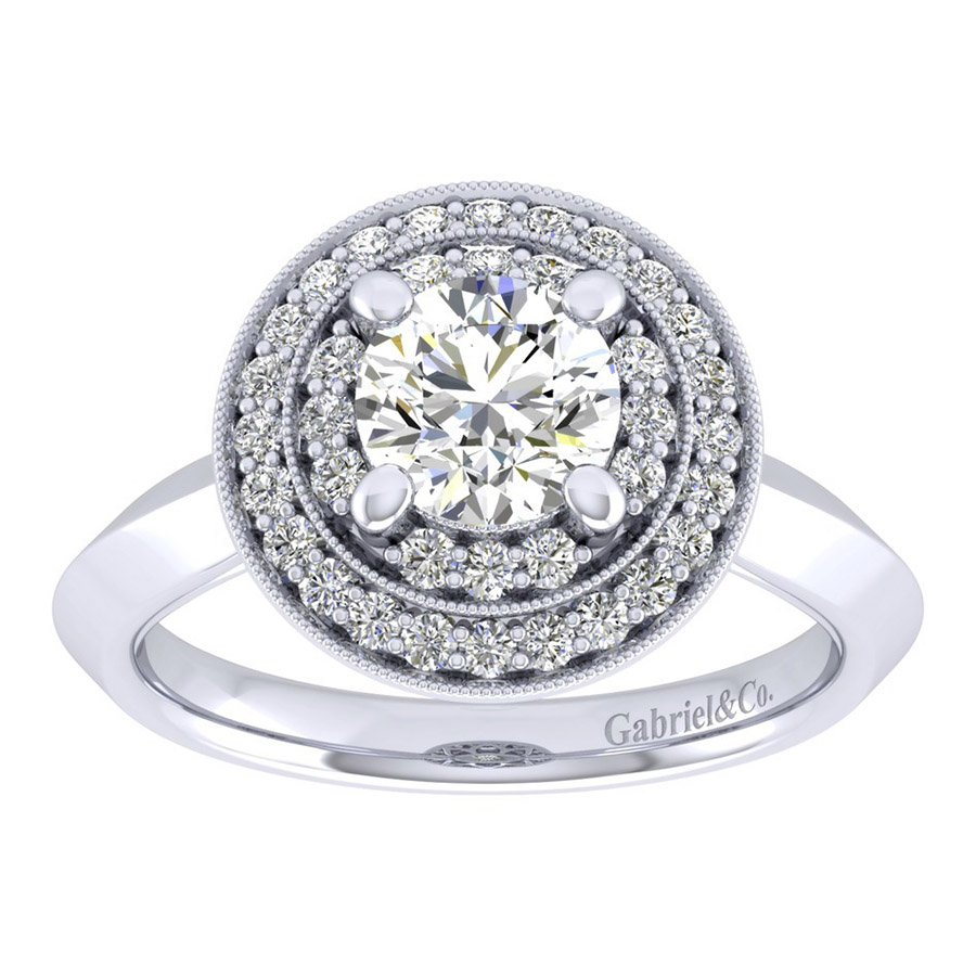 Gabriel 14 Karat Perfect Match Engagement Ring ER001B4AHW44JJ Alternative View 4