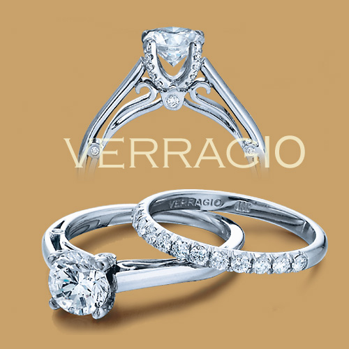 Verragio Platinum Couture Engagement Ring Couture-0388 Alternative View 1